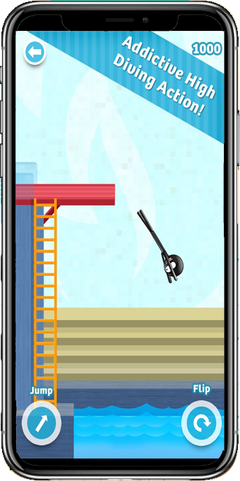 Stickman High Diving – Touch, Jump & Flip!