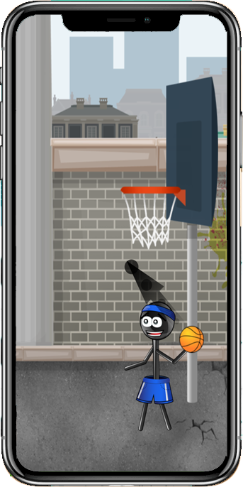 Stickman Trick Shot Basketball